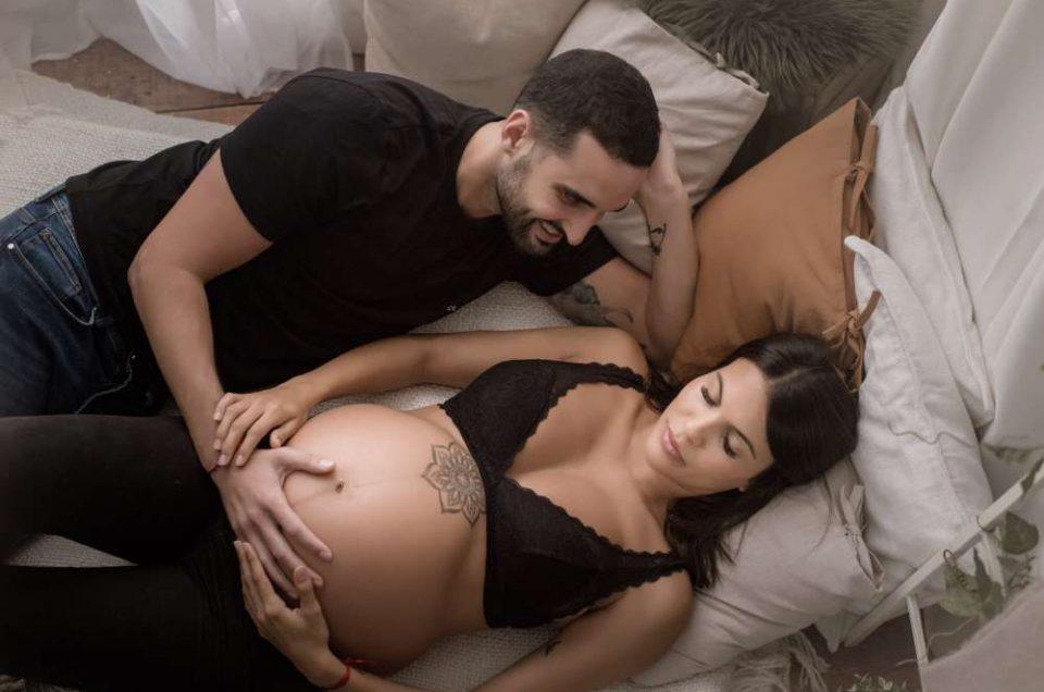 Sesión de Embarazo en Estudio en Tenerife